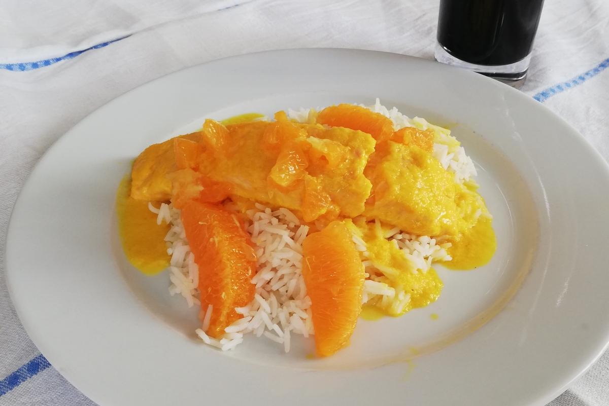 Lachs in Orangen-Ingwer-Sauce